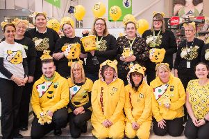 Staff at Larne Asda raised vital funds for BBC Children in Need 2019.