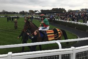 Young star Richard Patrick rode Rapper to a big win in the Pertemps Network Group Handicap Hurdle EMN-191125-130821002