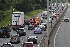 There is a temporary speed restriction on the M2. Archive pic.