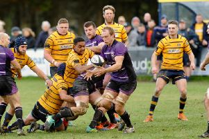 Action from Worthing Raiders v Leicester Lions