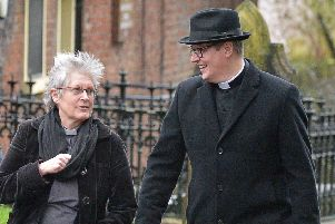 The Rev Katie McAleer and Archdeacon Robert Miller said they would hold the culprits 'in our prayers'