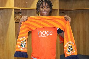 Peter Kioso after his move to Luton Town from Hartlepool United