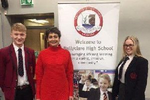 Mrs Fiona Bagnall visited the school on January 23.