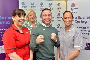 Claire Strickland, Heather Weir, Carl Frampton and Tracey Lee.