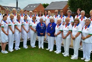 The Northants Ladies team face the camera ahead of their Johns Trophy win over Bedfordshire