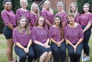 The Northants Ladies golf team