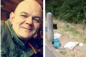 Stuart Lancaster filmed his walk to work in Semilong in a bid to show the extent of litter in the area.