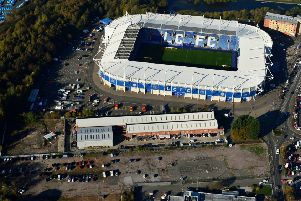 Aerial view of the King Power Stadium in Leicester after the helicopter crash on Saturday night (Photograph: Tristan Potter/SWNS.com) SUS-181029-121313001