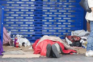 Rough sleepers in Northampton