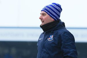 Loughgall manager Dean Smith