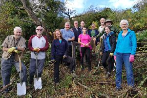 Vounteers with the Belfast Hills Partnership.