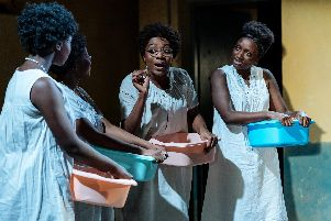 Rima Nsubuga as Vestine, Gabrielle Brooks as Alphonsine, Yasmin Mwanza as Anathalie and Michaela Blackburn as Evas. Picture: Manuel Harlan