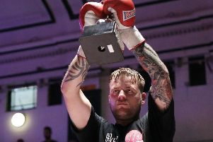 Danny Couzens celebrates victory over Ossie Jervier. Picture: Natalie Mayhew, Butterfly Boxing