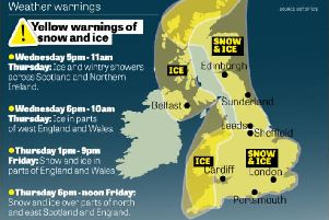 It is expected to be the coldest night of winter so far this evening