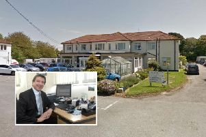 The Lawns Surgery, based at Zachary Merton Community Hospital in Glenville Road, Rustington, and inset, Dr Charles Shlosberg