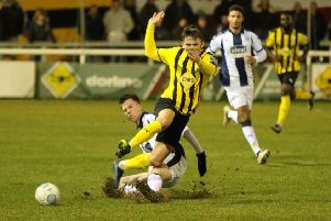 Connor Taylor is sent crashing to the turf in midweek, forcing his early departure. Picture: Tim Nunan