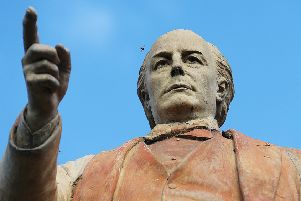 The Charles Bradlaugh statue on Abington Square, Northampton NNL-150928-091430009
