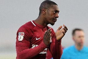 Marvin Sordell made his Cobblers debut in last Saturday's clash with Colchester United