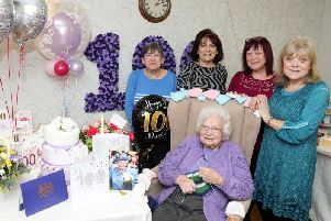 Maud Butler pictured with daughters Myra, Jean, Enid and Iris (L to R). Photo: Alison Bagley