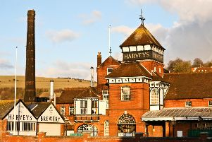 'The cathedral of Lewes' ... Harvey's Brewery