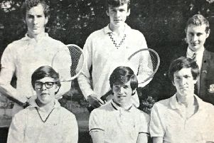 Friends School Senior Boys tennis team who finished runner up in the Ulster Schools Cup in 1970.