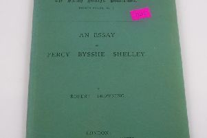 An exciting donation: a published Essay on Percy Bysshe Shelley'