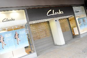 Clarks in Arundel Street, Portsmouth, has closed down.''Picture: Sarah Standing (180219-9535)