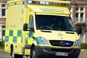 Paramedics were called to the scene