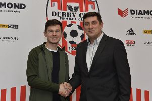 Derry City manager Declan Devine welcomes striker Michael McCrudden to the club.