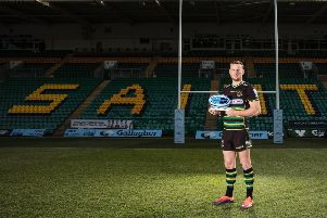 Rory Hutchinson has been named Premiership player of the month for February