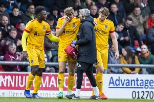 Charlie Goode suffered a facial injury at Crewe last weekend, but will be fit to face Exexter City