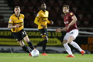 Ash Taylor in action against Newport in midweek. Picture: Pete Norton/Getty Images