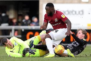 Cobblers striker Junior Morias