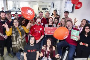More than 80 members of Dynamic, over the course of six weeks, have hopped on their bikes for Comic Relief. Pictures by Kirsty Edmonds.
