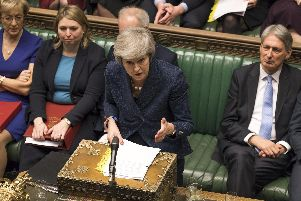 Prime Minister Theresa May at PMQs in the House of Commons Chamber