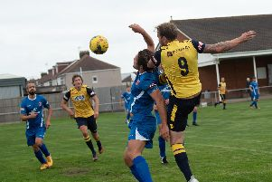 Sam Pearce opened the scoring for Moneyfields Picture: Vernon Nash