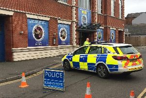 Commercial Street, Northampton, has been closed by police following a stabbing