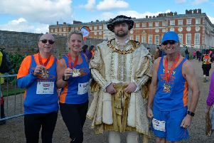 Tone Zone's trio with the boss at Hampton Court Palace