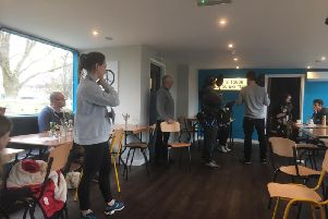 Film Crews from the One Show were on hand to film on Northampton cafe The Ark.