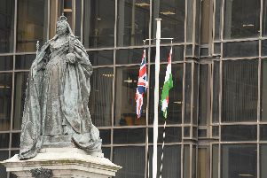 Portsmouth City Council raised the Kurdish flag outside the civic offices in Guildhall Square today to see in the Kurdish New Year'Picture: Sarah Standing (210319-3377)