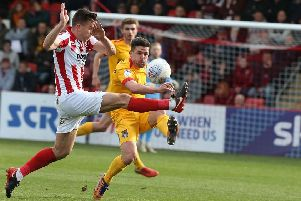 David Buchanan clears the ball during Saturday's game. Picture: Pete Norton/Getty Images