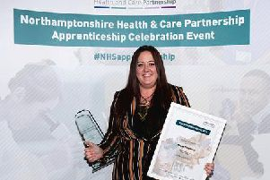 Megan O'Connell at St Andrew's Healthcare took home the overall Apprentice of the Year.