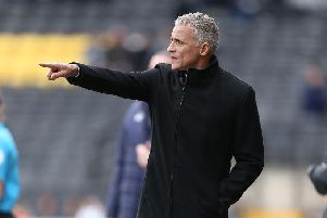 Keith Curle at Meadow Lane. Picture: Pete Norton