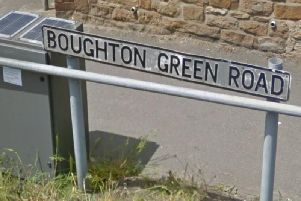 A nine-year-old pedestrian was hit by a car on Boughton Green Road on Monday.