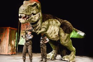 Tybalt the T-Rex will be prowling the Grosvenor Centre tomorrow lunchtime.
