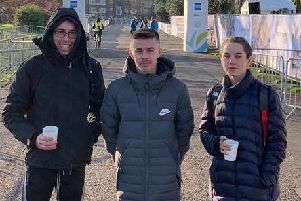 Gary Foster, Ross Skelton and Lizzie Clarke at the Brighton Marathon Weekend. Picture courtesy Terry Skelton