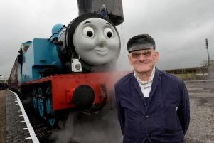 Thomas the Tank Engine on a previous visit to the Bucks Railway Centre