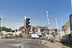 The police pursuit came to a halt at West Worthing level crossing. Picture: Google Street View