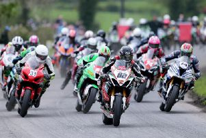 The start of the Open Superbike race at last year's Tandragee 100.