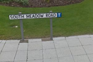 A man exposed himself indecently on South Meadow road twice in one day in April.